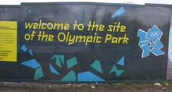 Olympic park site in stratford