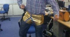 Neil's gold pants