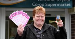 Nicola Wright Celebrates Lottery Win