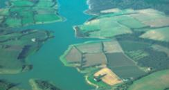 Aerial picture of Bewl Reservoir in Kent