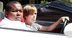 Justin Biber in his new Lamborghini
