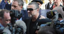 George Michael arrives in court