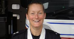 Medal winning firefighter Abi Link