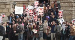 Students protest at proposed rise in tuition fees