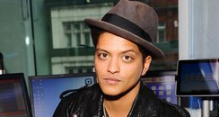 Bruno Mars in the Capitalfm Studios