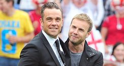 Gary Barlow with Robbie Williams