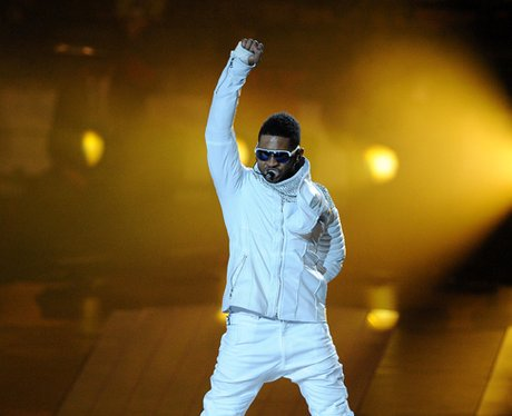 Usher at the The Super Bowl XLV
