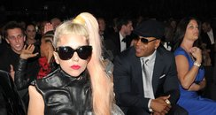 Lady Gaga backstage at the Grammy Awards