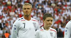 Robert Sebbage with David Beckham