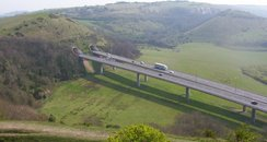 Roundhill Viaduct leading to Tunnels