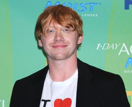 Rupert Grint in a t-shirt and blazer