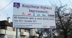 Kingsthorpe Roadworks