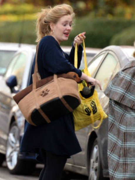 Adele with her pet dog