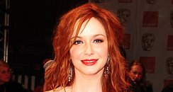 Christina Hendricks arrives at the BAFTAs 2012 Awa