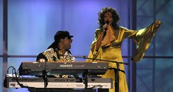 Whitney Houston and Stevie Wonder