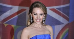 Kylie Minogue arrives at the BRIT Awards 2012