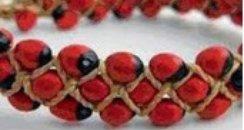 Jequirity bean bracelets