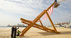 World's largest deckchair is back on Bournemouth beach!