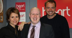 Matt Lucas with Jamie and Harriet