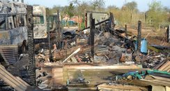 Somersham Allotments Arson