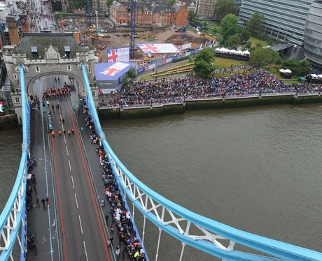 Crowds gather for the River Pageant