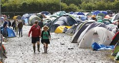 Isle of Wight Festival mud