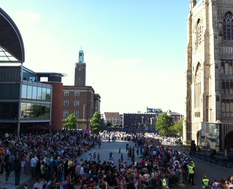 The Forum in Norwich Expecting The Olympic Torch