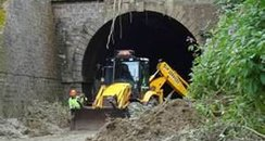Beaminster tunnel collapsed after heavy rain in Dorset