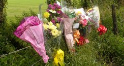 flowers left after hit'n'run