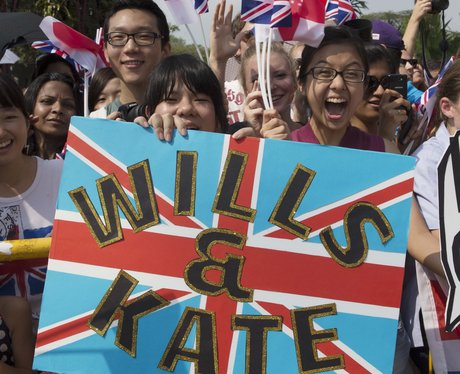 Prince William and Kate Middleton greeted by fans