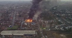 Oldbury Distillery Fire from the air