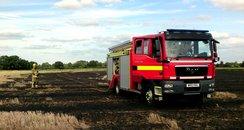Norfolk field fire