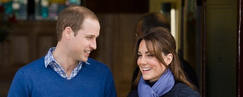 Prince William and Kate Middleton leave the hospit