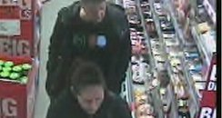 CCTV image of  shop lifters, dartmouth