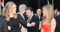 Adele and Jennifer Aniston arrive at the Oscars 20