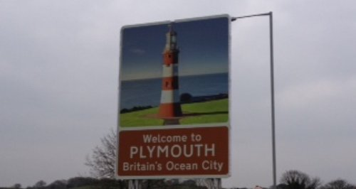 New Signs Welcome People To Plymouth