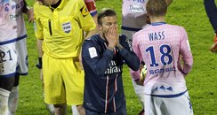 David Beckham sent off for Paris Saint-Germain