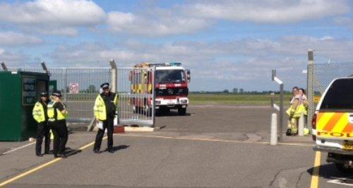 Light aircraft crash at Cranfield