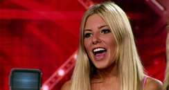 Mollie King auditions for The X Factor in 2007.