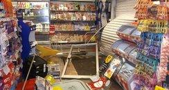 West End service station ram raid