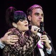 Lily Allen and Robbie Williams