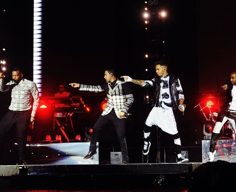 JLS on stage at their Final Gig