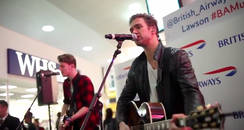 Lawson live at Gatwick Airport