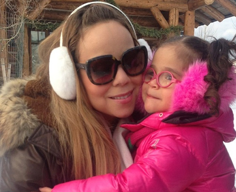 Mariah Carey and daughter Monroe in the snow