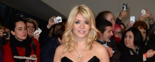 Holly Willoughby in a black dress