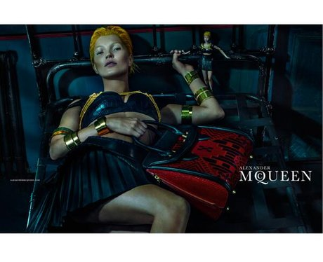 Kate Moss as a gladiator in fashion advert