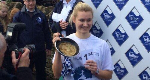 Devon Byrne Olney Pancake Race 2014
