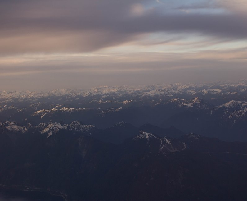 mountains over Vancouver