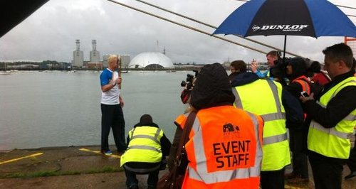 Queen's Baton Relay Southampton Iwan Thomas