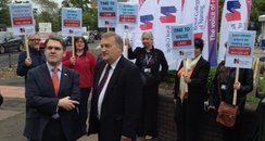 RCN Protest Newcastle Freeman Hospital